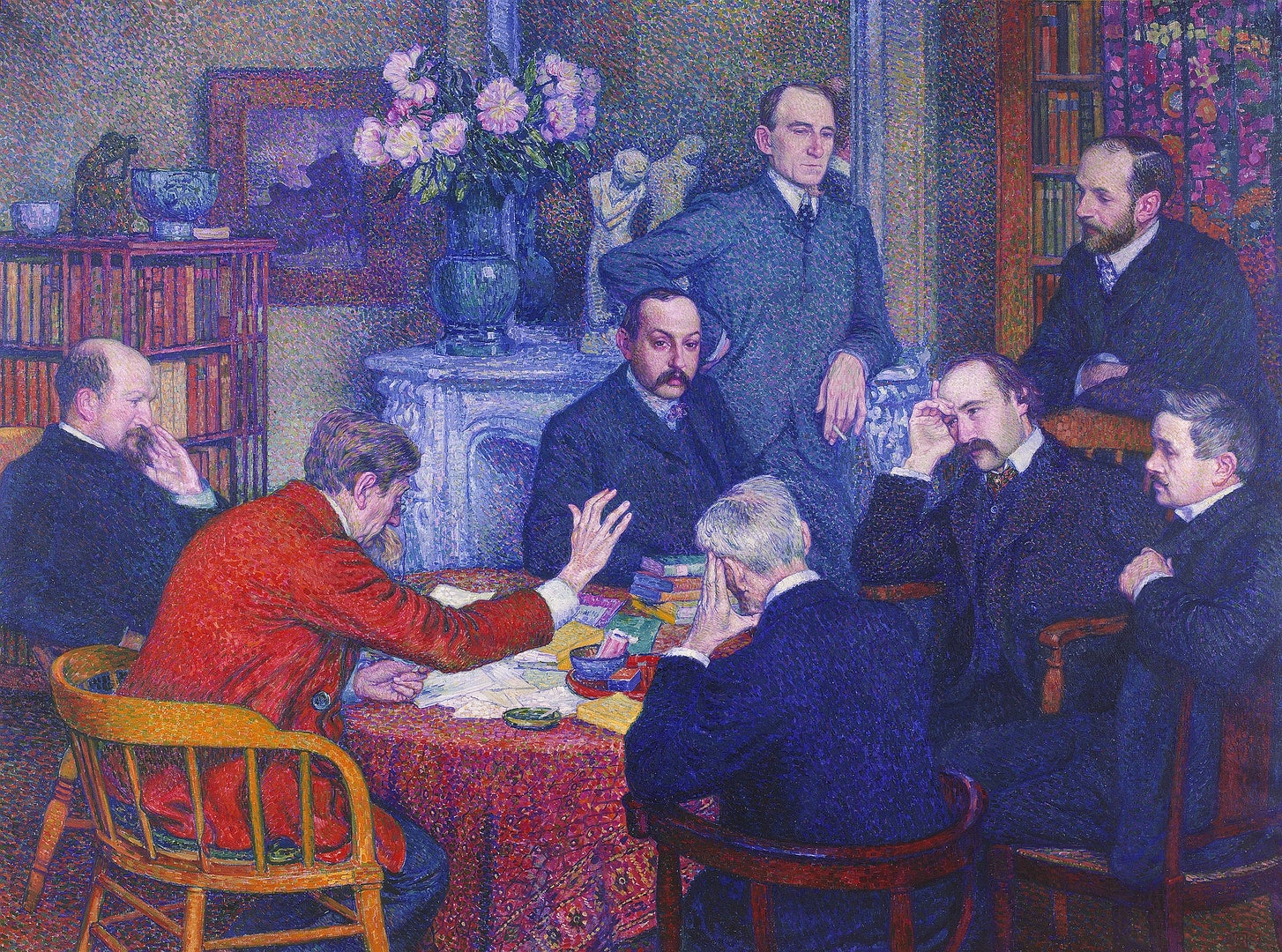 Théo Van Rysselberghe, The Lecture by Emile Verhaeren, 1906