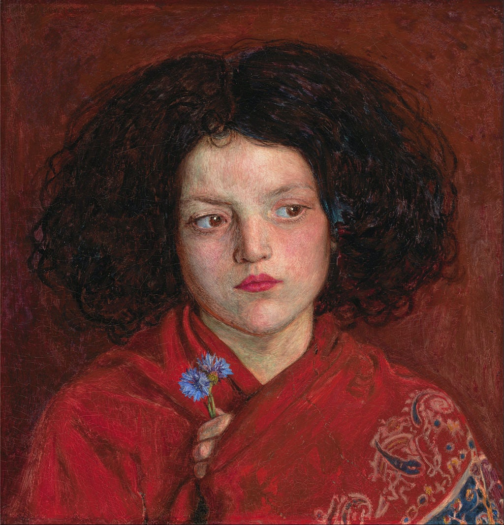 Ford Madox Brown, The Irish Girl, 1860 (Yale Centre for British Art)