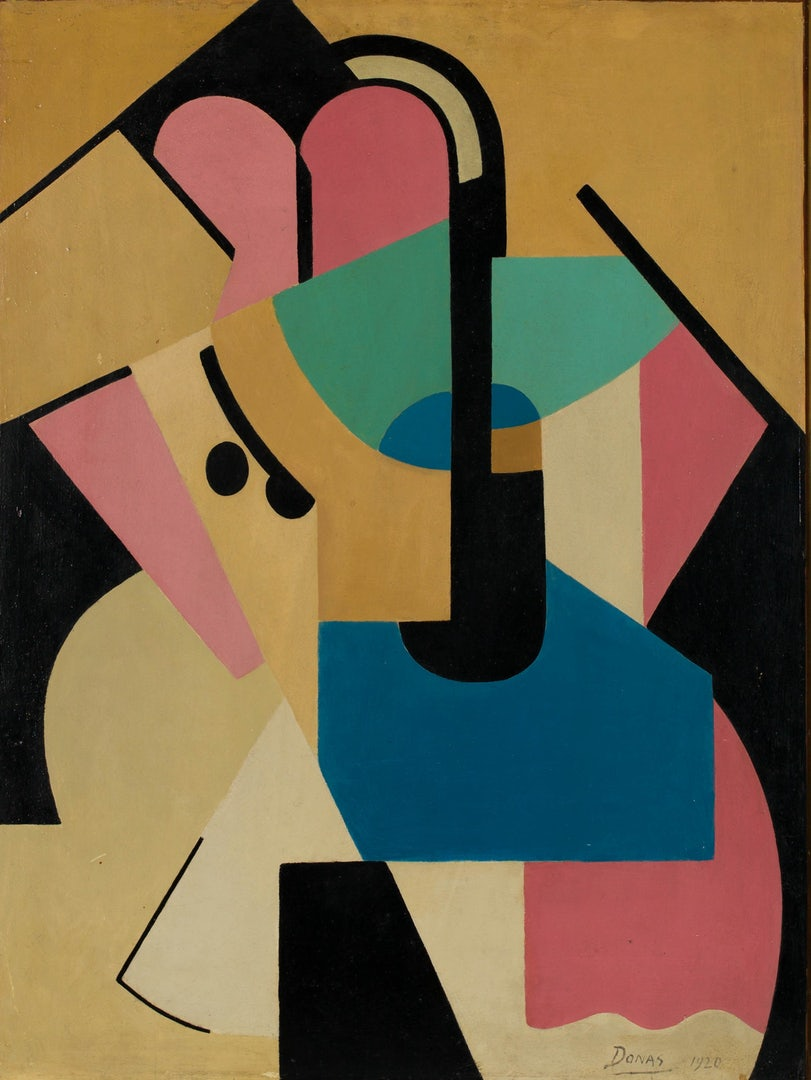 Abstract Composition Nr. V, 1920, Oil on canvas, 63 x 48 cm, Private collection © Fotografie Cedric Verhelst