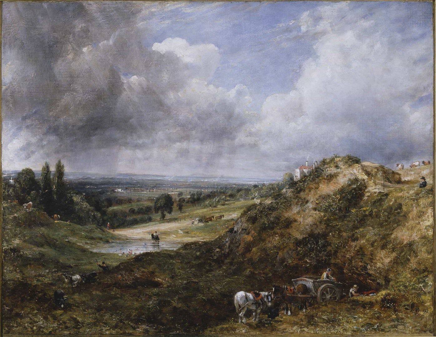 John Constable, Hampstead Heath: Branch Hill Pond, ca.1828
