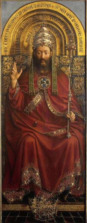 Hubert en Jan van Eyck - Lam Gods (detail)
