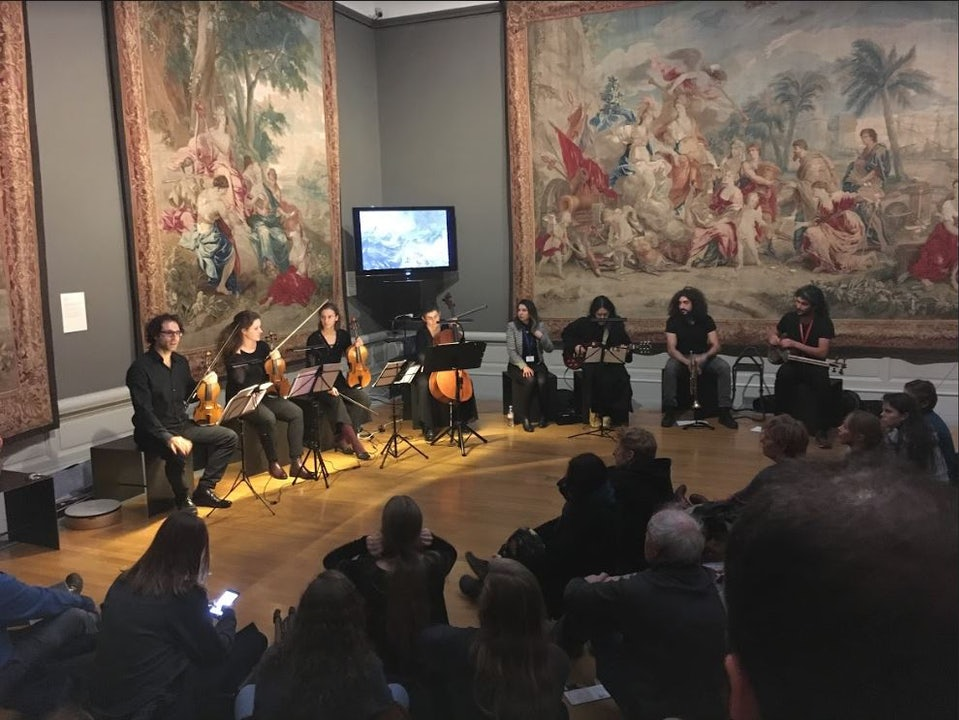 Acoustic concert on Museumnight, MSK Ghent, Tapestry room, …